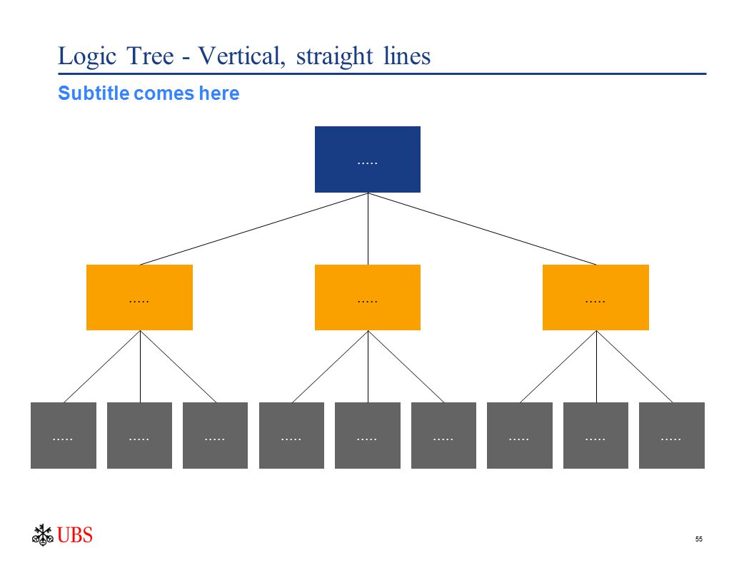 55 Logic Tree - Vertical, straight lines..... Subtitle comes here