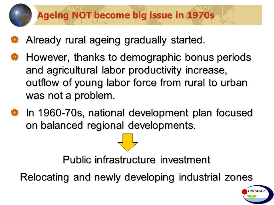  Already rural ageing gradually started.
