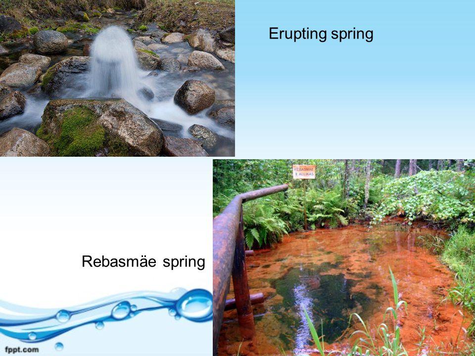 Erupting spring Rebasmäe spring