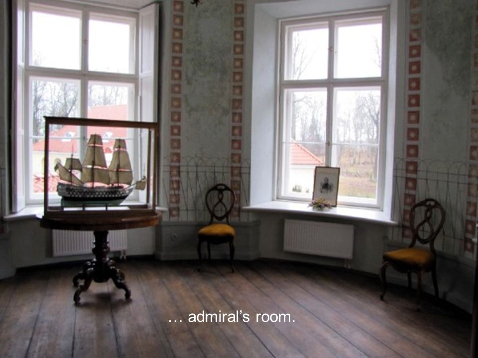 … admiral's room.