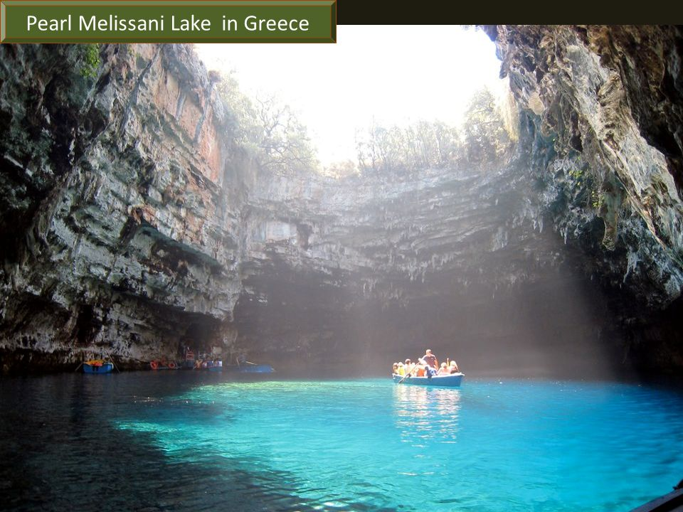 Pearl Melissani Lake in Greece