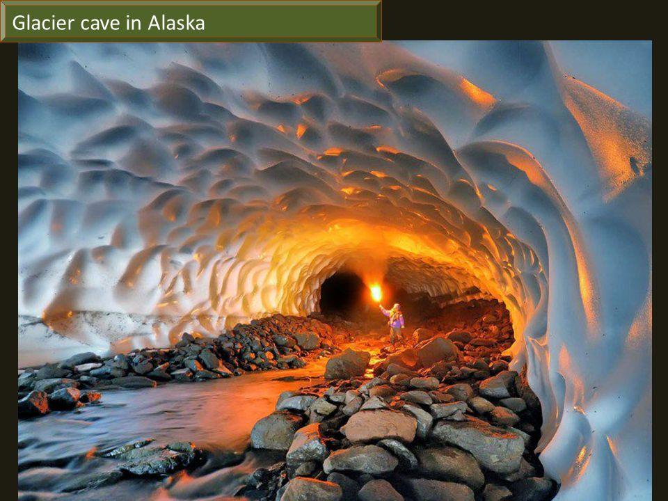 Glacier cave in Alaska