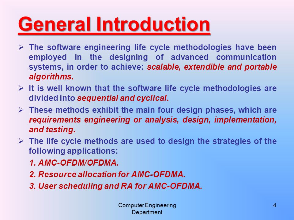 Computer Engineering Department 25 Life cycle model/ Developed RA Strategy
