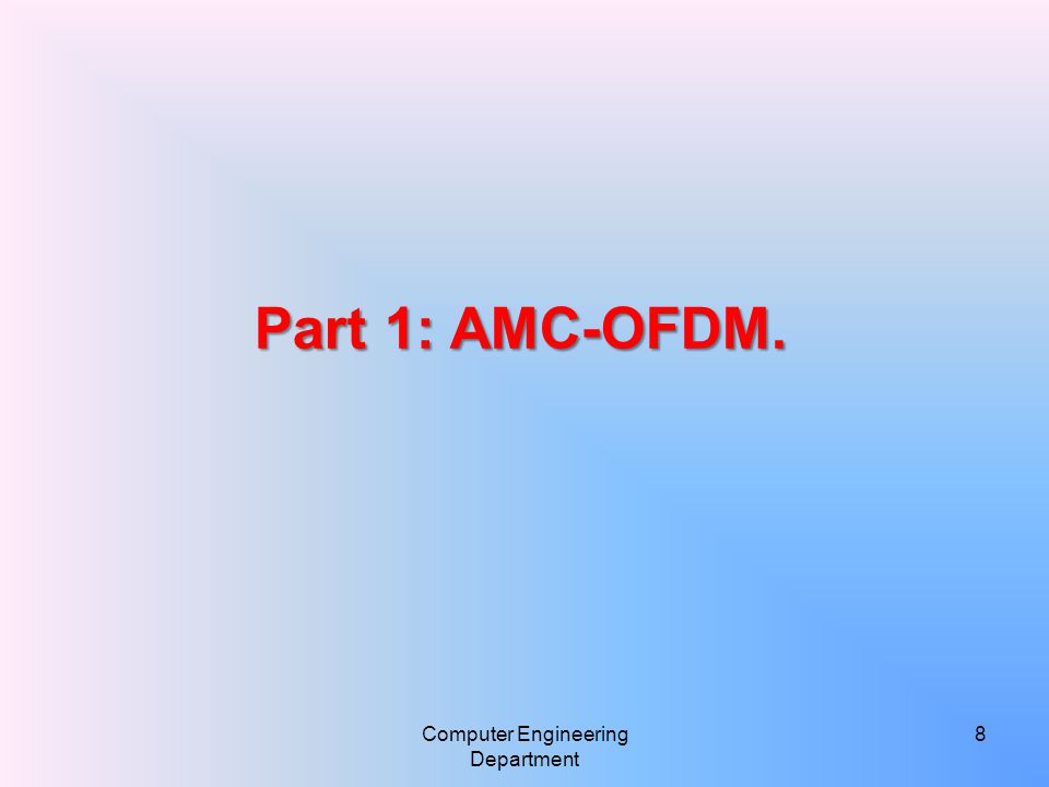 Introduction  Adaptive Modulation and Coding (AMC) Strategy for OFDM systems based on WiMAX standards.