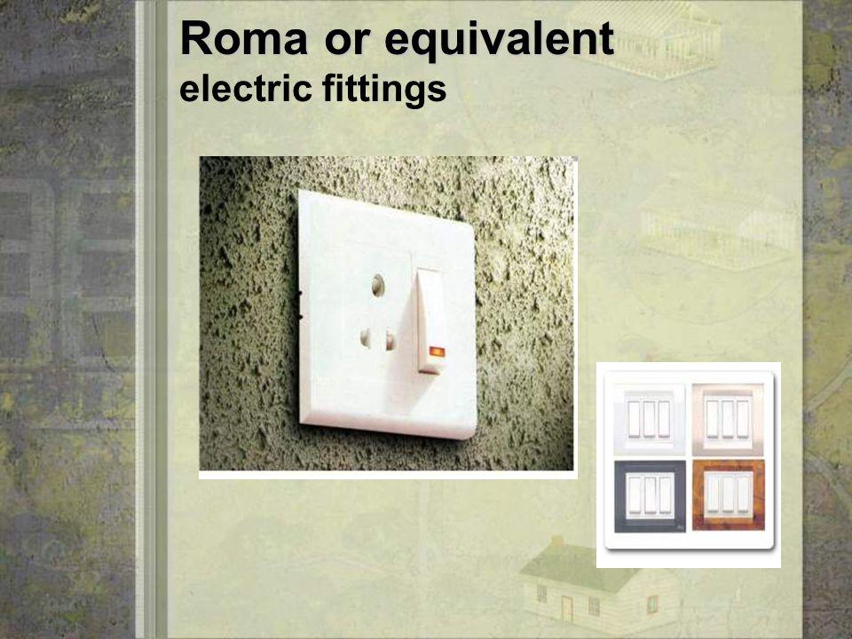 Hindware or equivalent Hindware or equivalent Sanitary fittings