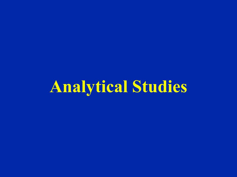 Analytical Studies
