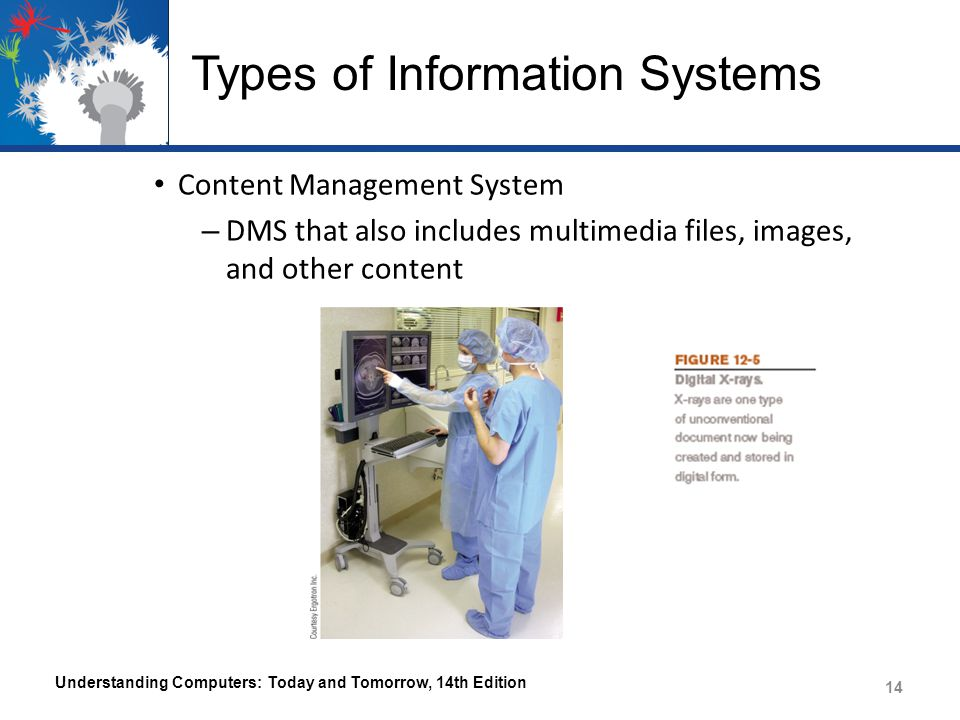 Types of Information Systems – Communication Systems Allow employees to communicate with each other, with business partners, and with customers – E-mail – Messaging – Videoconferencing – Collaborative (workgroup) computing – Telecommuting Understanding Computers: Today and Tomorrow, 14th Edition 15