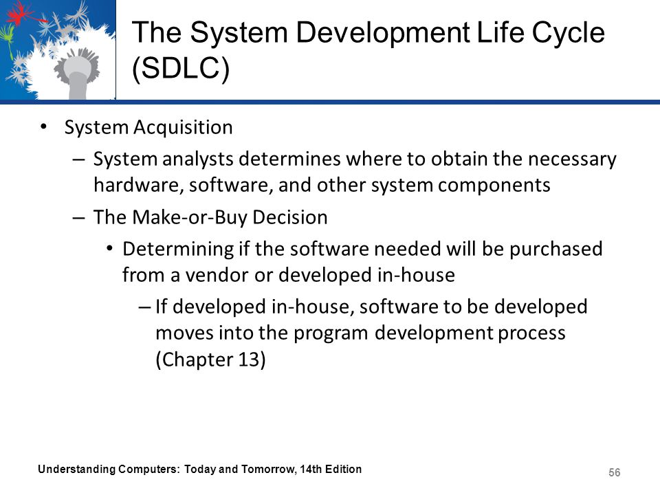 The System Development Life Cycle (SDLC) Understanding Computers: Today and Tomorrow, 14th Edition 57