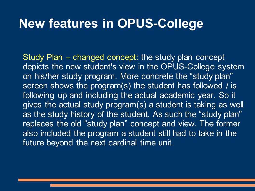 New features in OPUS-College Academic year curriculum transition function.