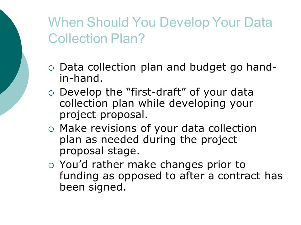 When Should You Develop Your Data Collection Plan.