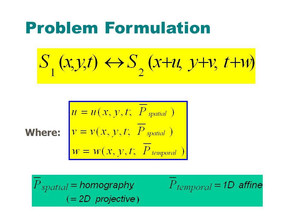 Where: Problem Formulation