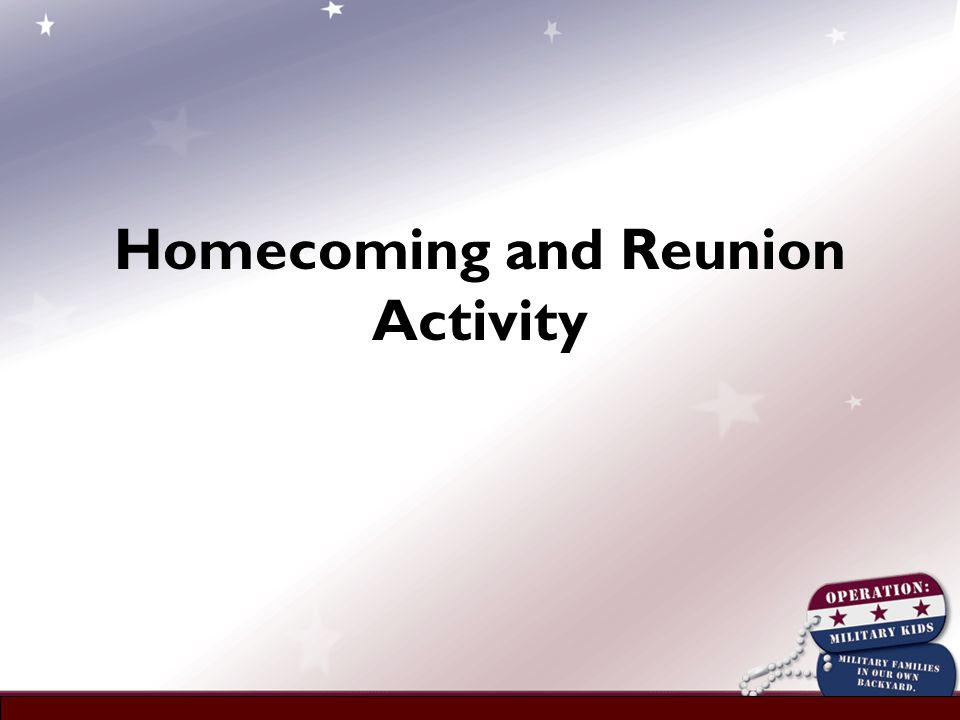 Homecoming and Reunion Activity