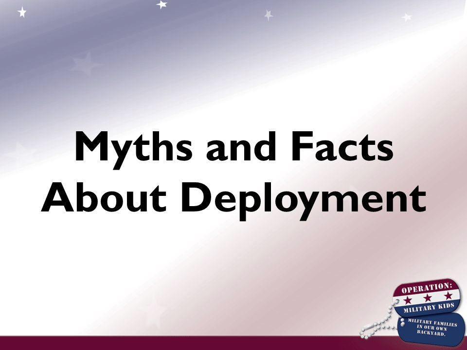 Myths and Facts About Deployment