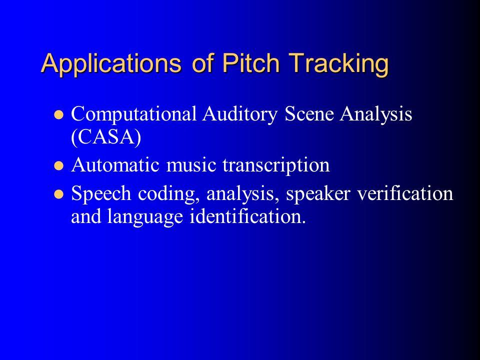 Pitch of a Periodic Sound d Fundamental Frequency (period) Pitch Frequency (period)