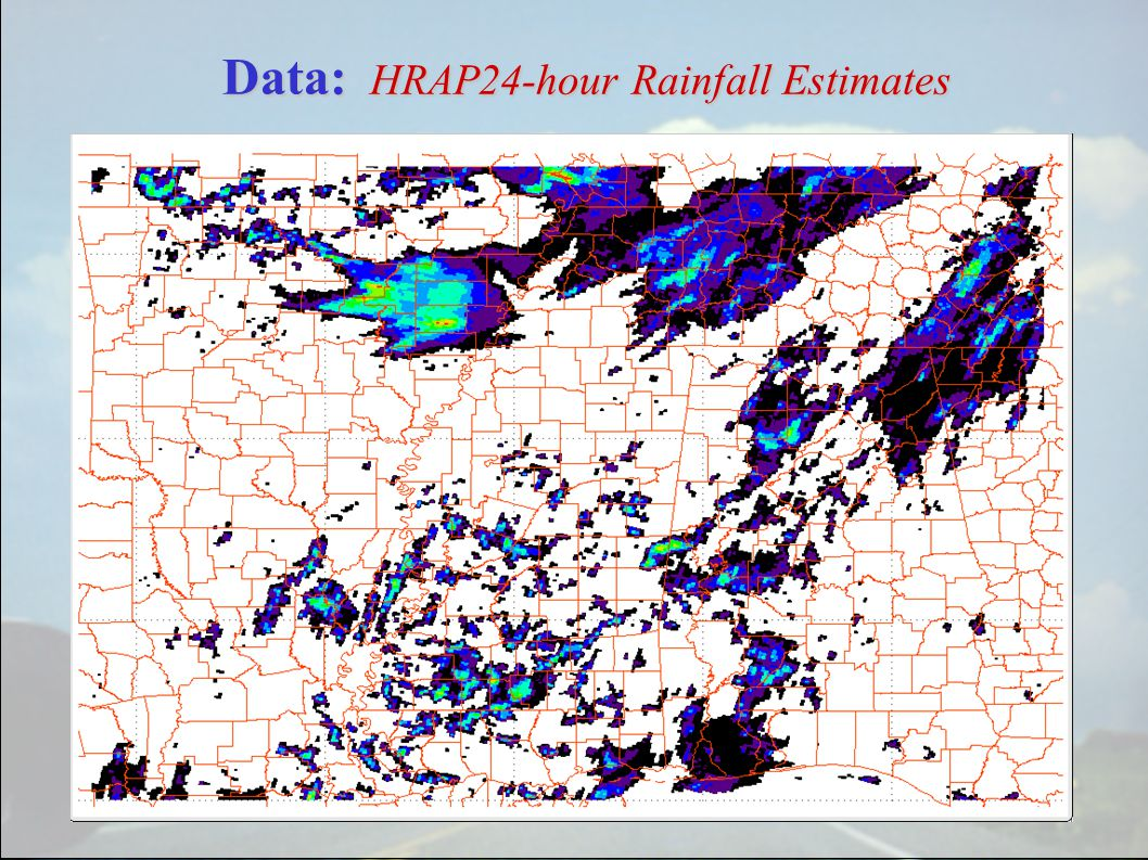 Data: HRAP24-hour Rainfall Estimates