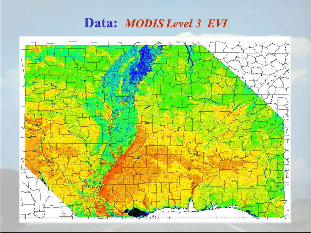 Data: MODIS Level 3 EVI