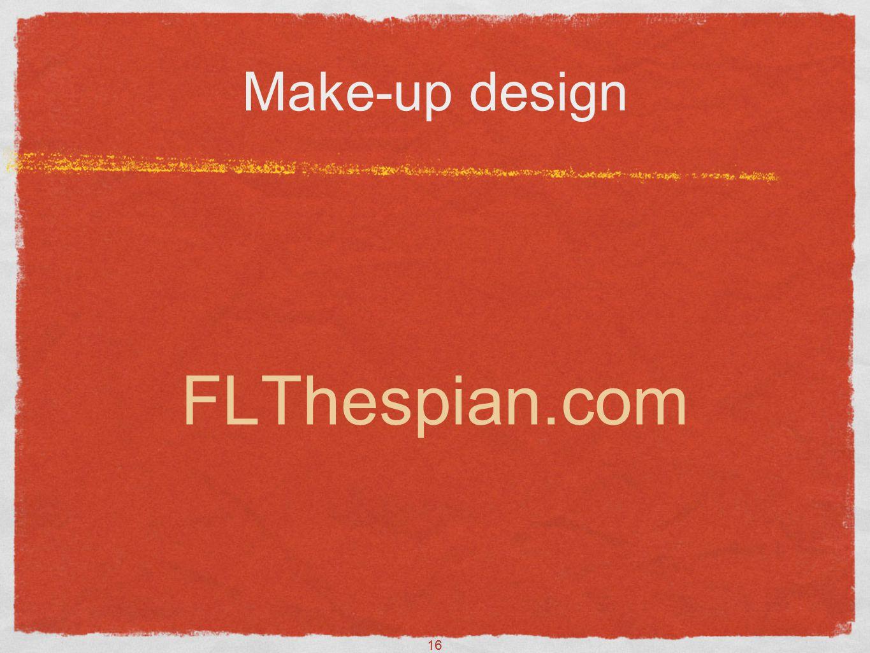 16 Make-up design FLThespian.com