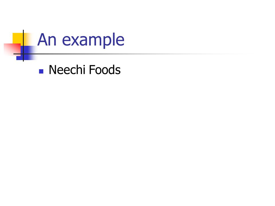 An example Neechi Foods