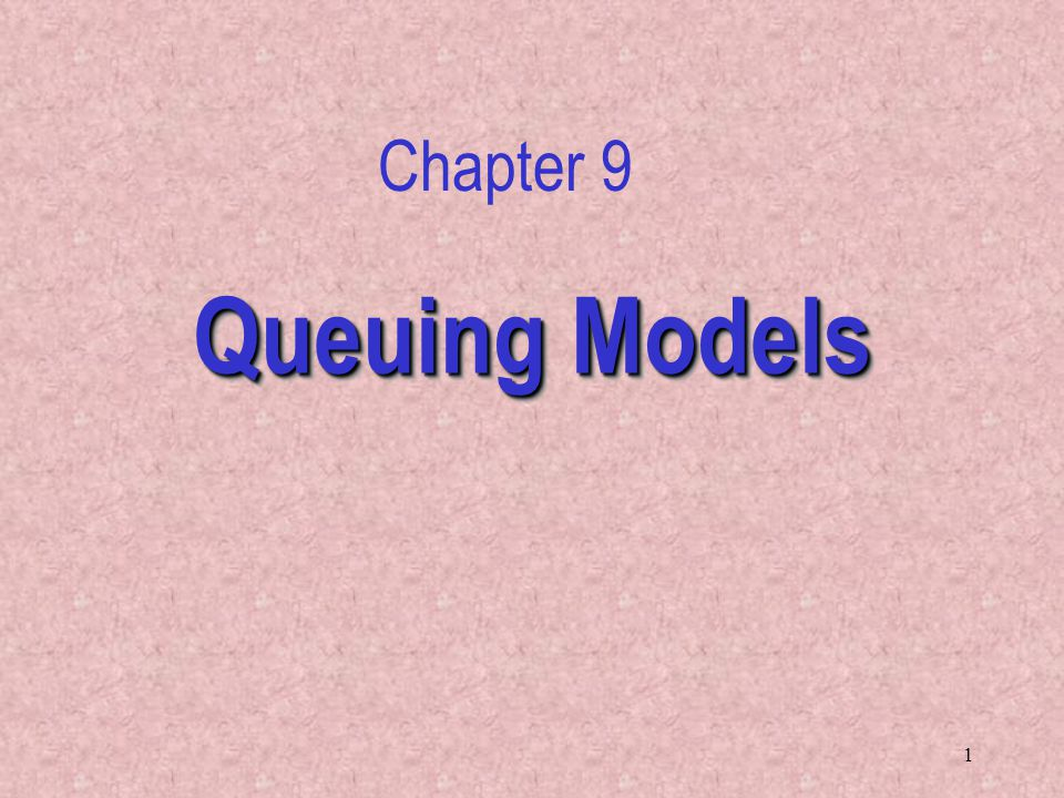 12 Factors that influence the modeling of queues –Line configuration –Jockeying –Balking The Waiting Line Characteristics – Priority – Tandem Queues – Homogeneity