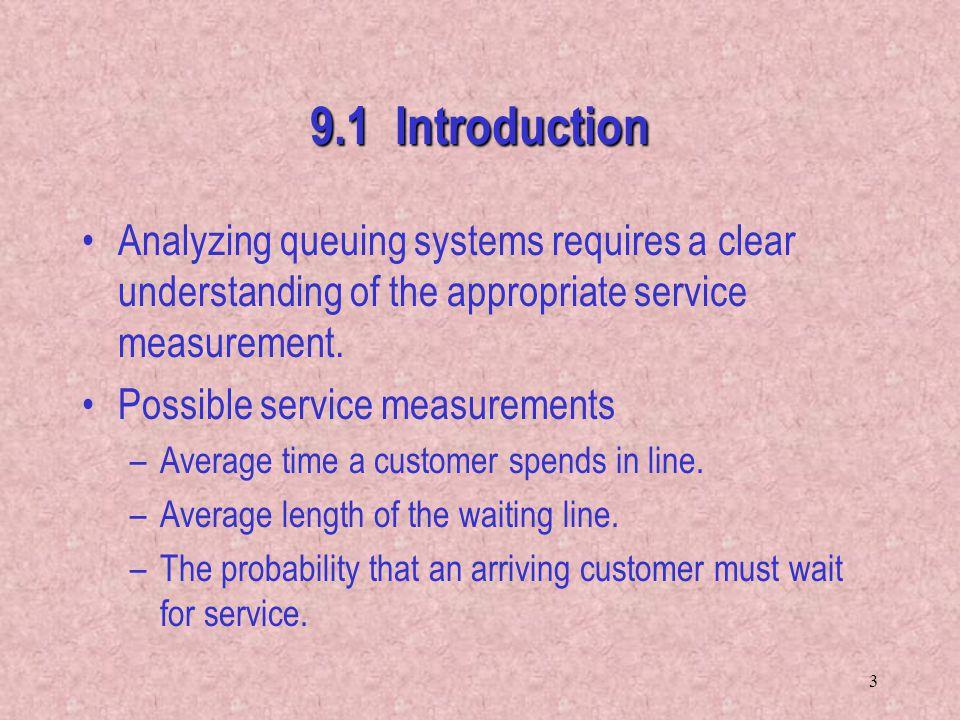 34 9.4 M  M  1 Queuing System - Assumptions –Poisson arrival process.