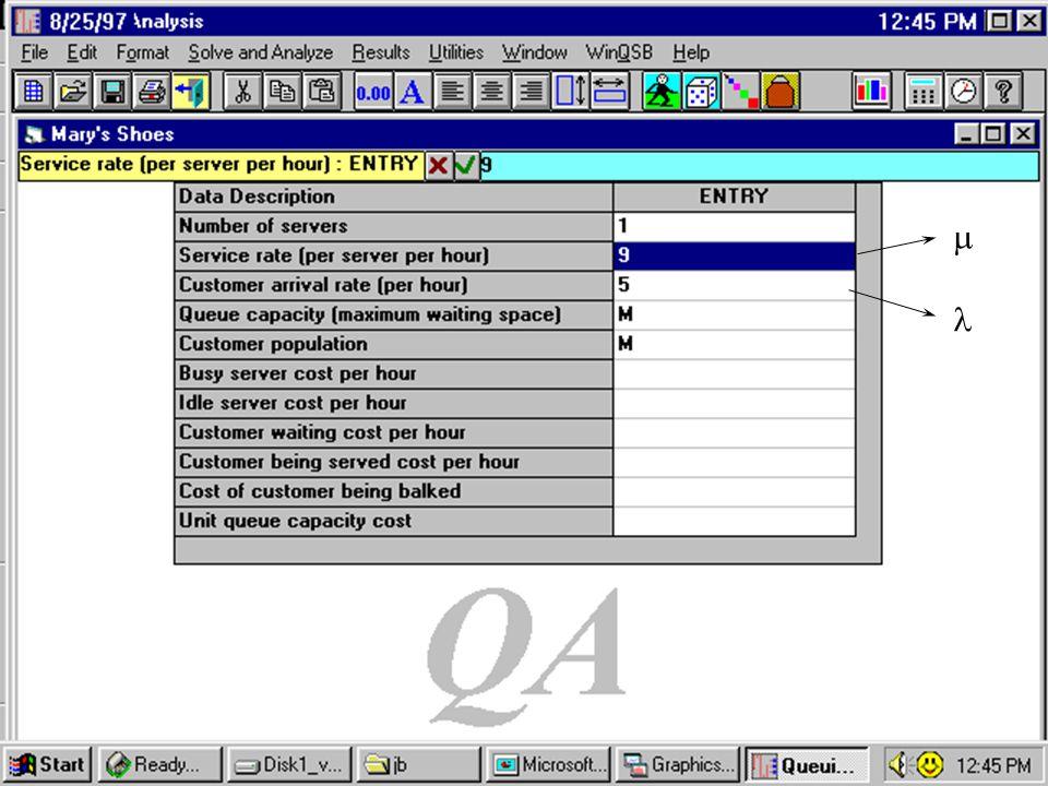 43 WINQSB Input Screen  