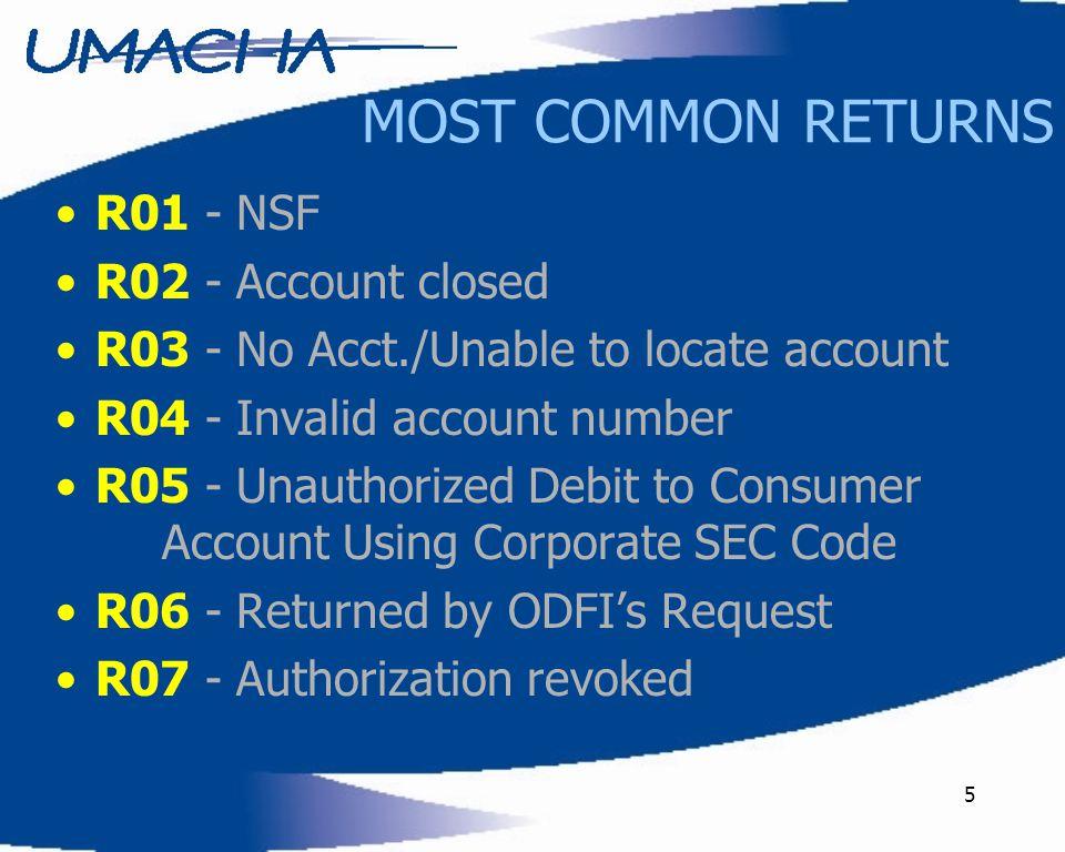 36 Resources Your 2006 ACH Rule Book Contact your Local Regional Payments Association OR Today's Speaker, Donna Olheiser @ UMACHA –800-348-3692 –763-549-7000 –donnao@umacha.orgdonnao@umacha.org