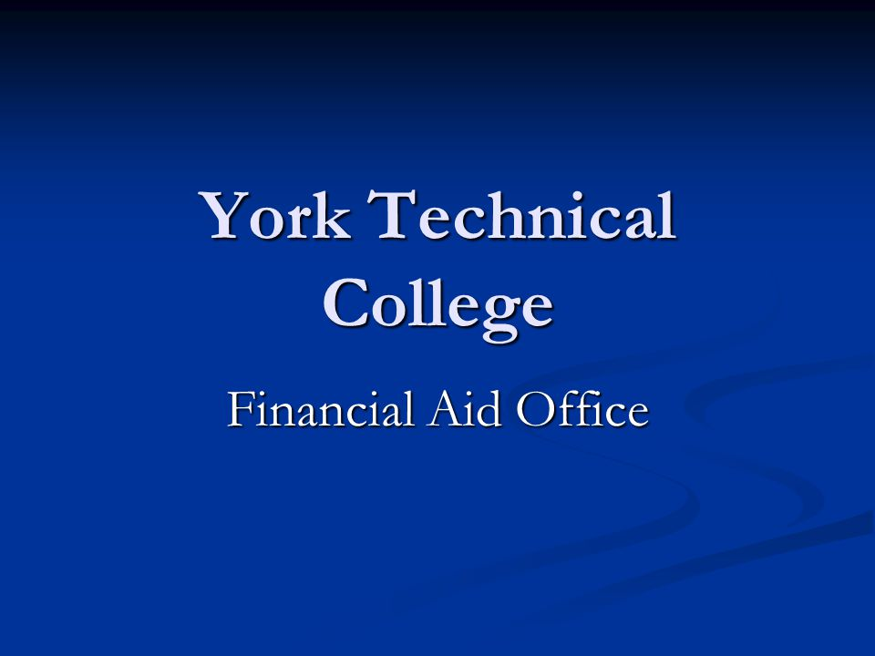 York Technical College Financial Aid Office