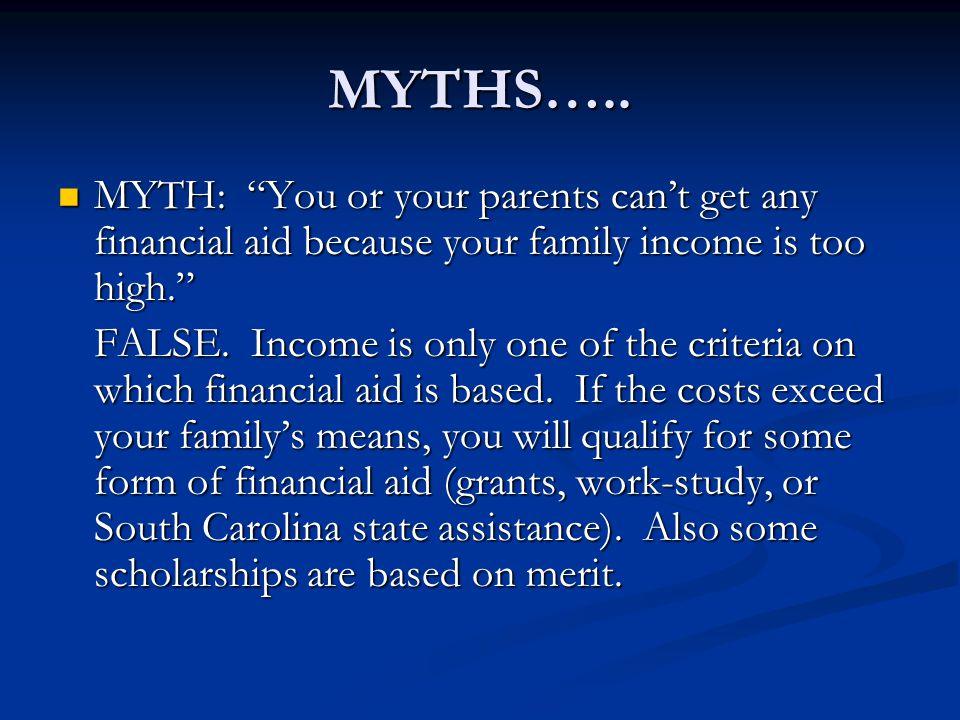 MYTHS…..