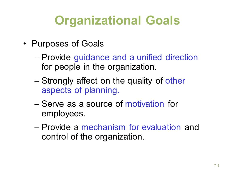 Responsibilities of Planning The only function of this team is to plan.