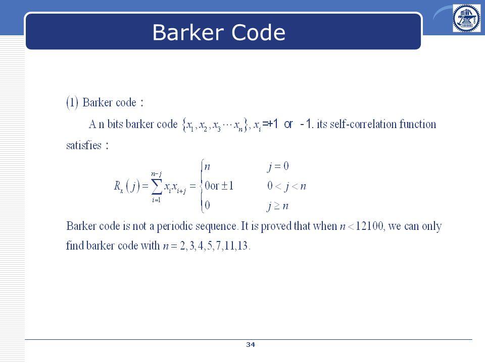 Barker Code 34