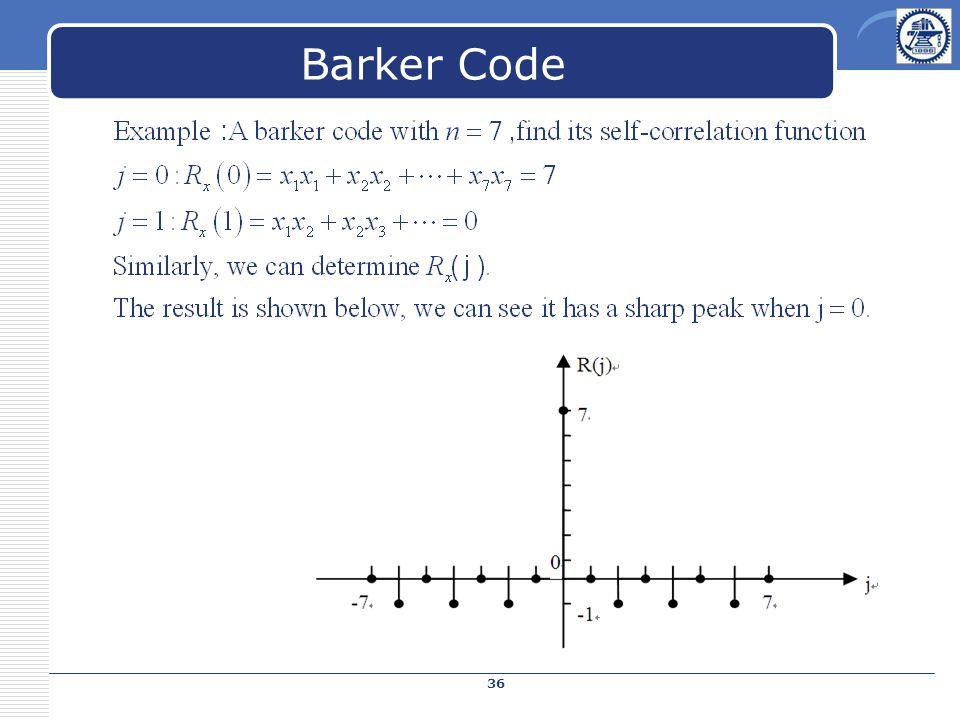 Barker Code 36