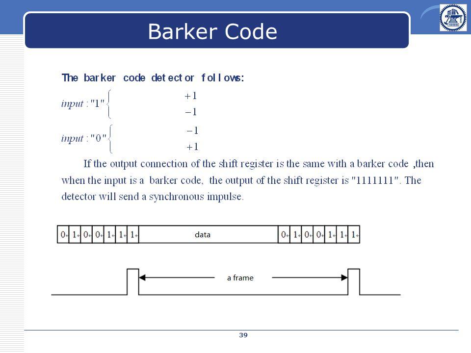 Barker Code 39