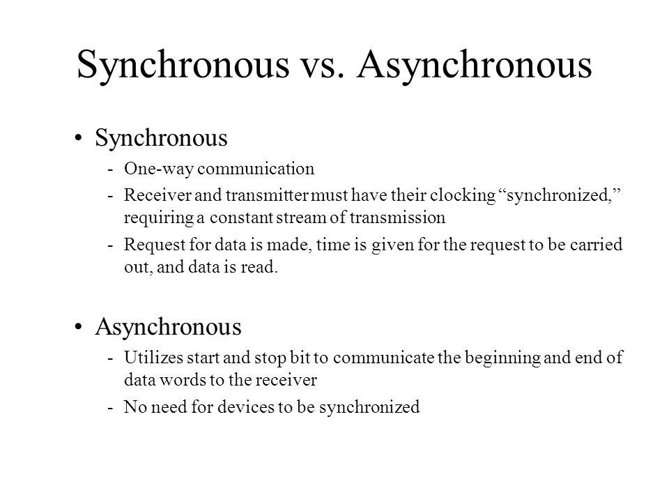 Synchronous vs.