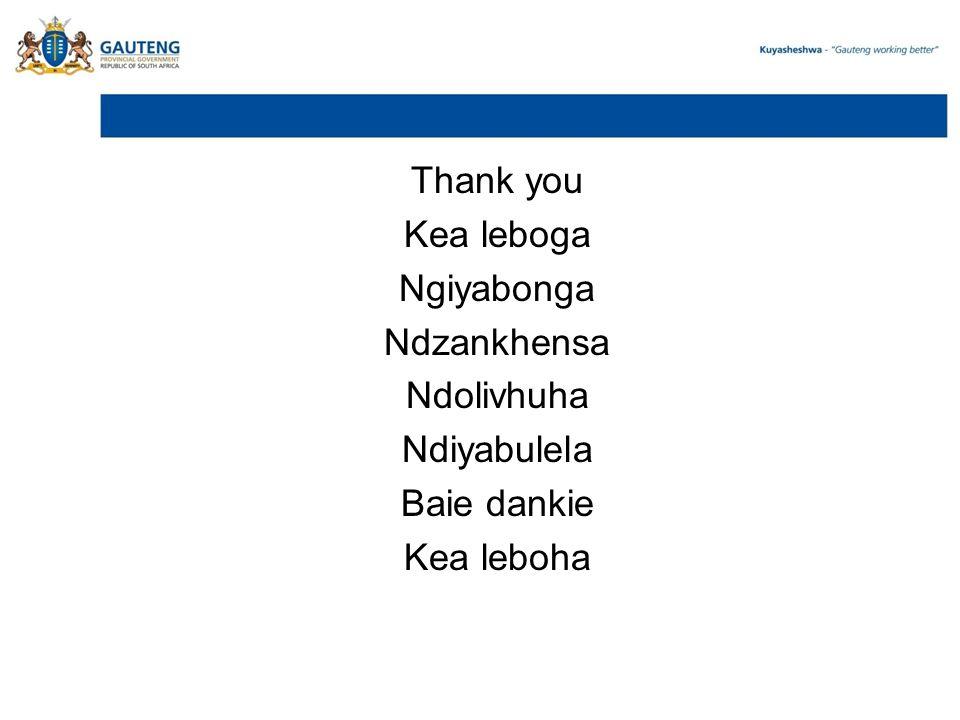 Thank you Kea leboga Ngiyabonga Ndzankhensa Ndolivhuha Ndiyabulela Baie dankie Kea leboha