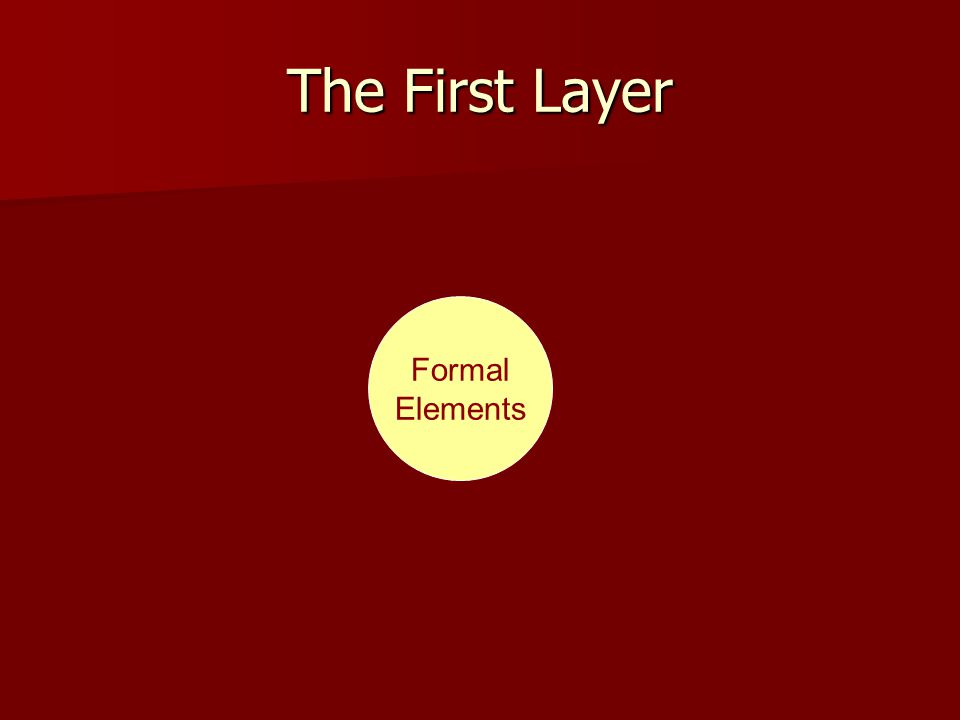 The First Layer Formal Elements