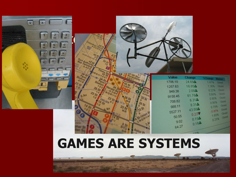 Systems all around us … GAMES ARE SYSTEMS