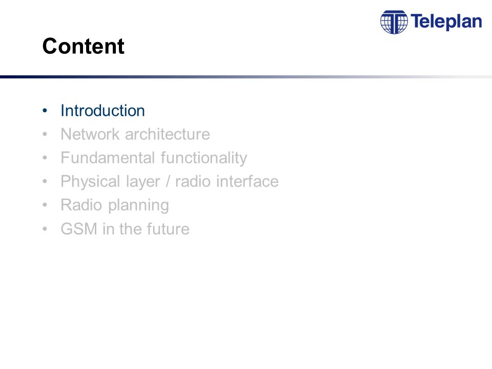 TDMA - principle GSM uses TDMA within each carrier Each user occupies the entire carrier one time slot pr.