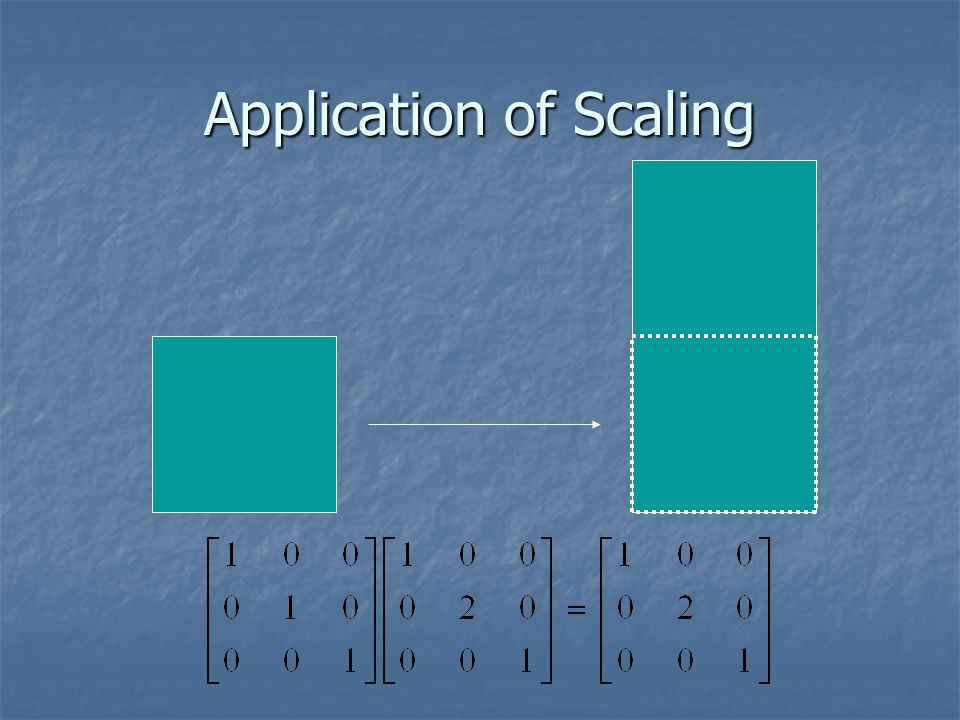 Application of Scaling