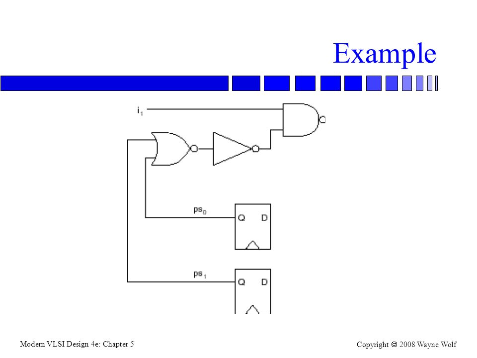 Modern VLSI Design 4e: Chapter 5 Copyright  2008 Wayne Wolf Example