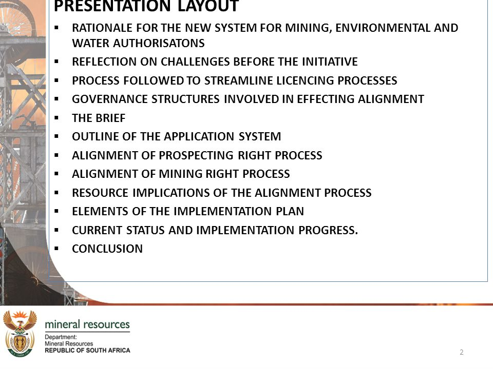 ALIGNMENT OF PROSPECTING RIGHT PROCESS The timeframe kicks in when the application for an Environmental Authorization is received.