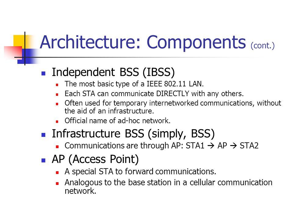 Architecture: Figure 1 Ad Hoc Infrastructured
