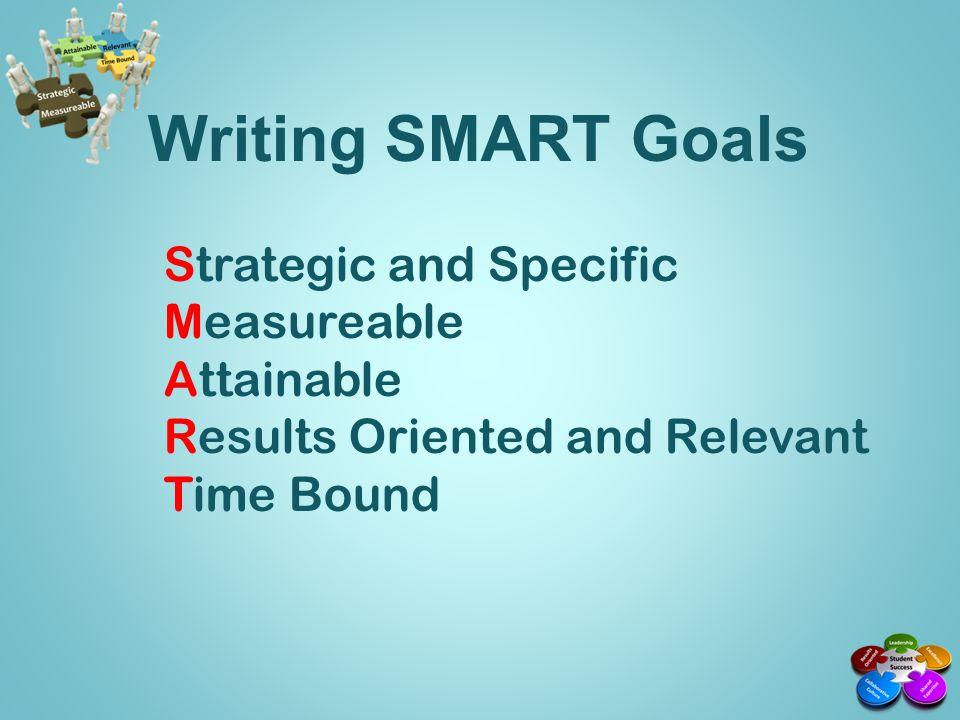 Strategic and Specific Describe the goal in precise terms.
