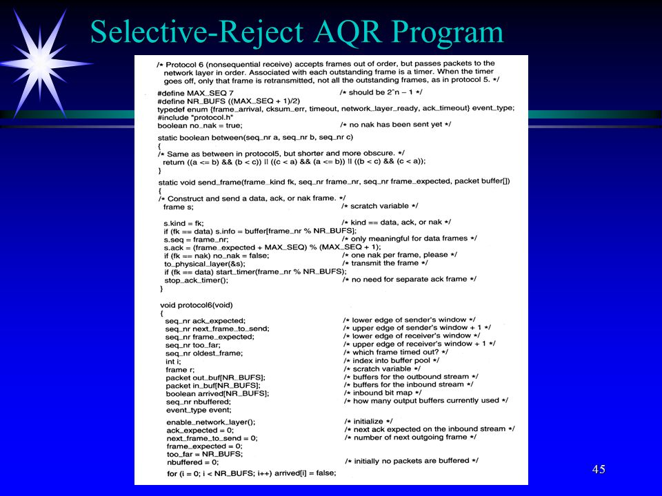 C) All rights reserved by Professor Wen-Tsuen Chen45 Selective-Reject AQR Program
