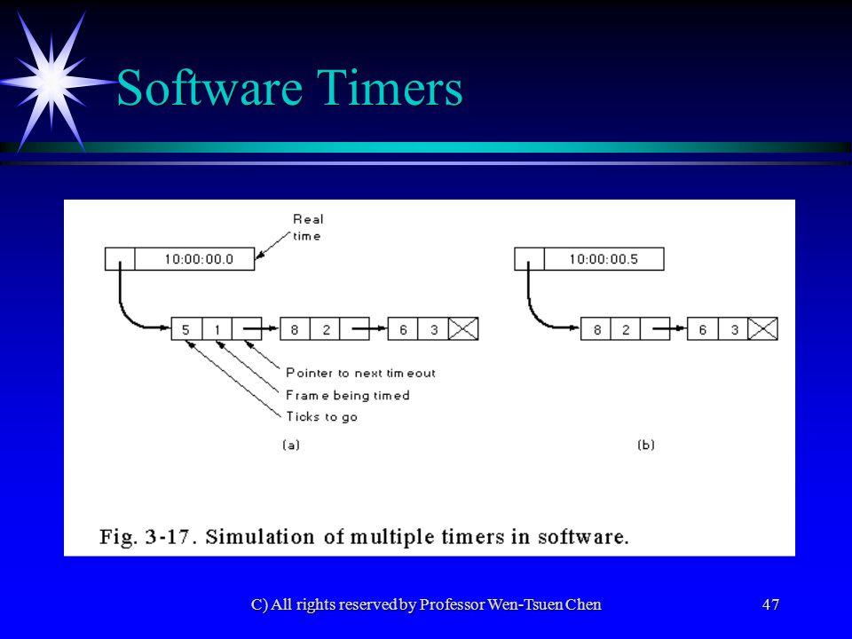 C) All rights reserved by Professor Wen-Tsuen Chen48 HDLC - High-level Data Link Control ä SDLC (Synchronous Data Link Control) of IBM's SNA ä ADCCP (Advanced Data Communication Control Procedure): ANSI ä HDLC: ISO 33009, ISO 4335 ä LAP (Link Access Procedure): X.25 of CCITT ä LAPB: CCITT