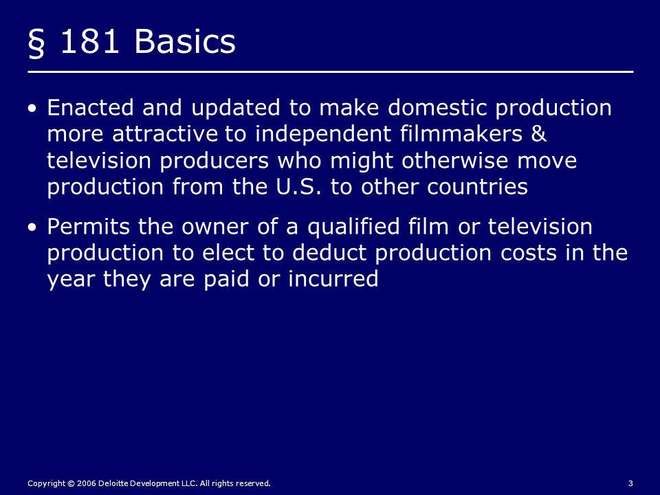 Copyright © 2006 Deloitte Development LLC.