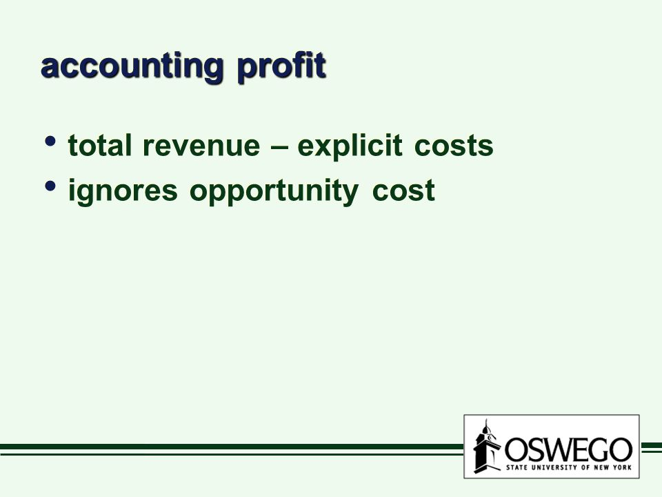 economic profit includes opp.