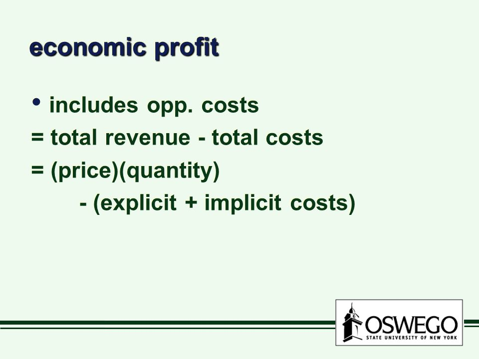 summary:summary: costs = implicit + explicit SR, only labor variable LR, all inputs variable Production & costs  total, marginal, average  fixed, variable costs = implicit + explicit SR, only labor variable LR, all inputs variable Production & costs  total, marginal, average  fixed, variable