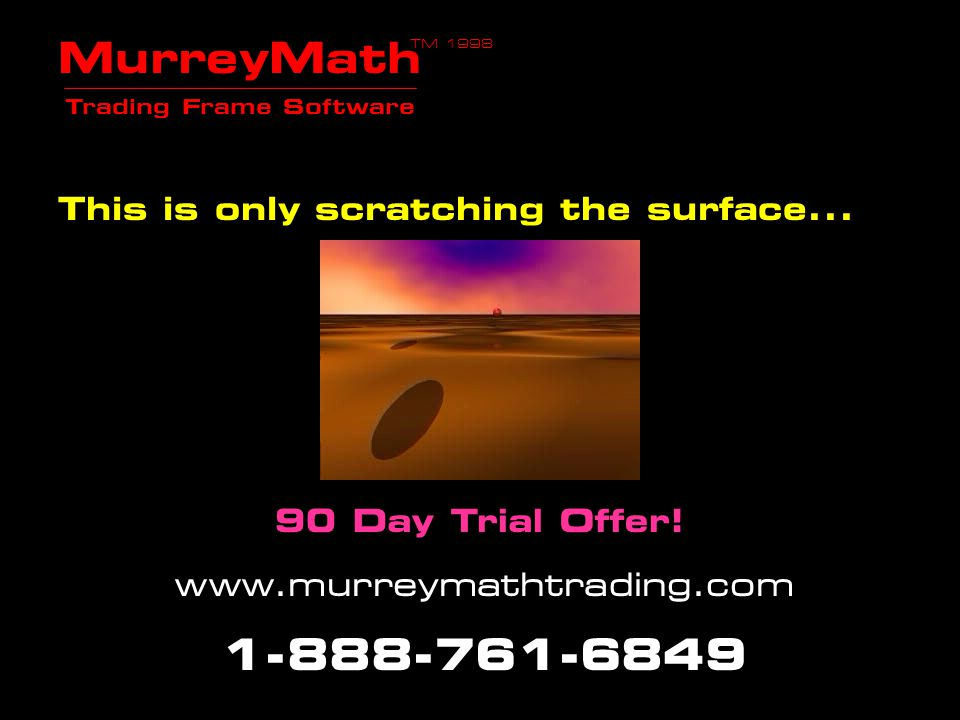 MurreyMath Trading Frame Software 90 Day Trial Offer!! www.murreymathtrading.com 1 -888-761-6849 1) The Earth is set to three days of magnetism and on