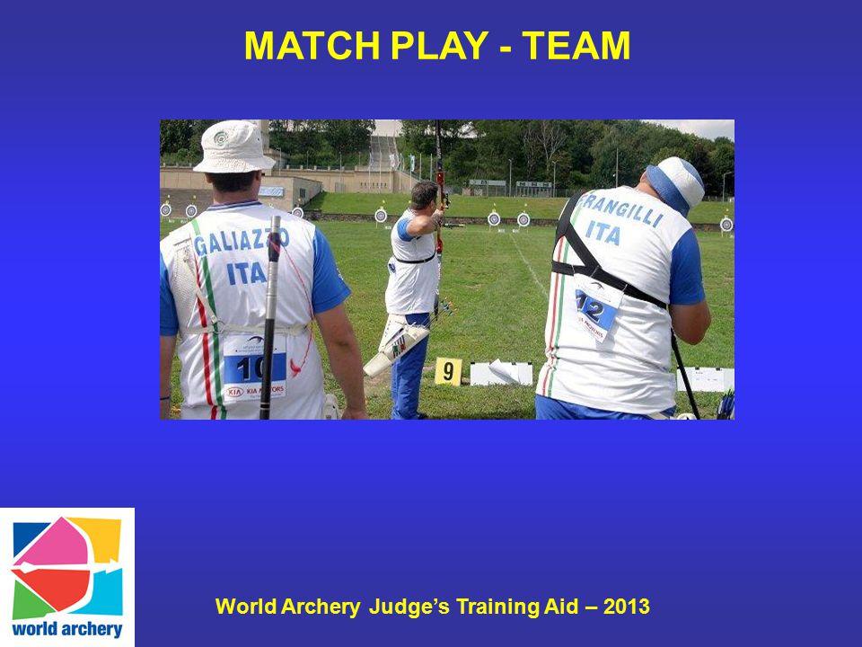 World Archery Judge's Training Aid – 2013 MATCH PLAY - TEAM