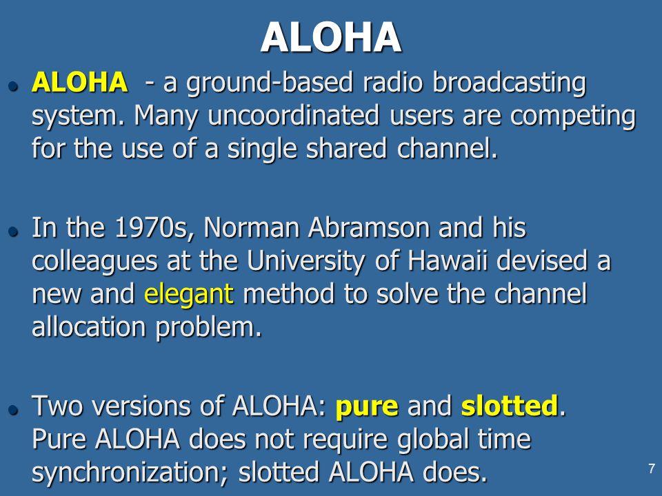 7ALOHA l ALOHA - a ground-based radio broadcasting system.